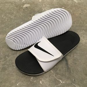 Nike Shoes - NIKE KAWA ADJUSTABLE FLIP-FLOPS SANDALS SWOOSH